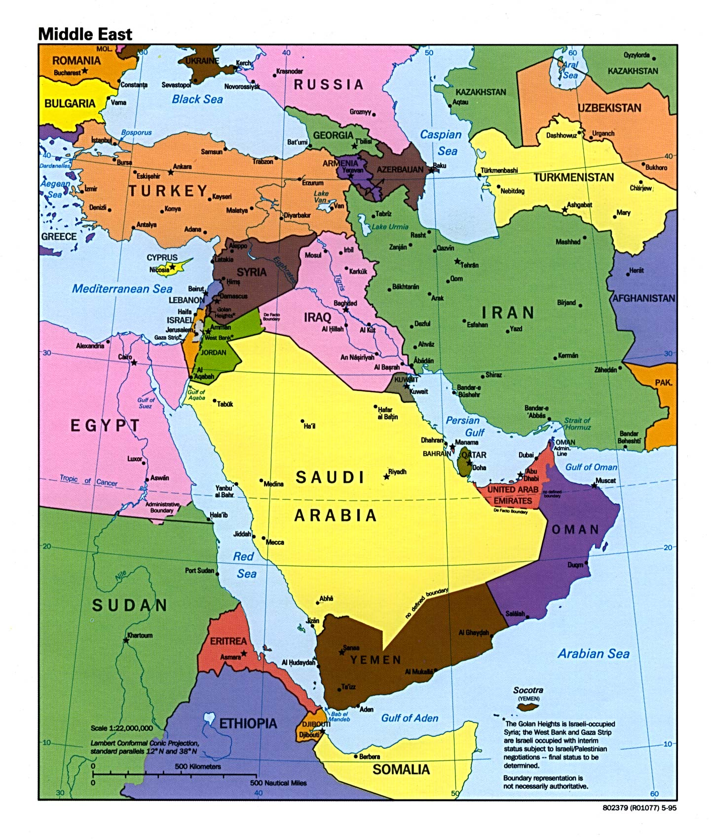 It is an image of Stupendous Printable Map of Middle East